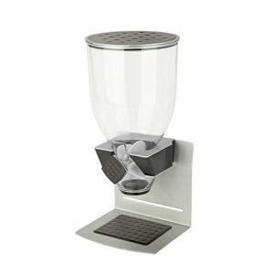 Dispensador Cereal Individual Plata Base De Acero Zevro Elegante