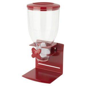 Dispensador Cereal Individual Rojo Base De Acero Zevro Elegante