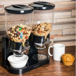 Dispensador Doble de cereal color Negro Zevro Modelo GAT-200