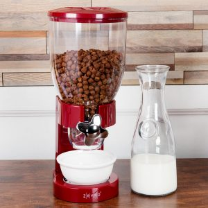 Dispensador Individual de cereal color Rojo Zevro