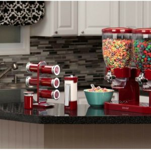 Dispensador Doble de cereal color Rojo Zevro