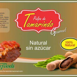 Pulpa Natural Tamarindo sin Azucar en Cubeta de 20 Kilos