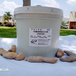 Pulpa Natural Tamarindo con Azúcar en Cubeta de 4 Kilos