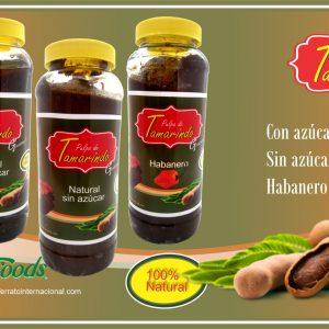 Pulpa Natural Tamarindo con Azucar en Frasco de 1 Kilo