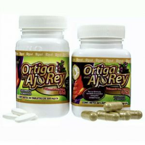 Ortiga Mas Ajo Rey 30 tabletas y 60 capsulas Suplemento Alimenticio con Omega