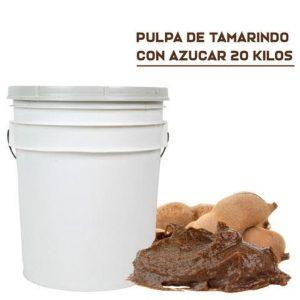 Pulpa Natural Tamarindo con Azúcar en Cubeta de 20 Kilos