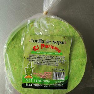 Tortilla de maiz con nopal, El pariente, 18 pzas