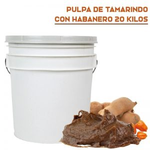 Pulpa Natural Tamarindo con Habanero en Cubeta de 20 Kilos