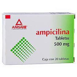 AMPICILINA 500 MG C/20 TABLETAS